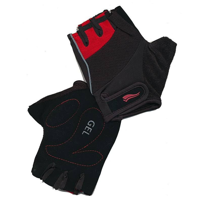 Ladies Pink Full Finger Cycling Gloves