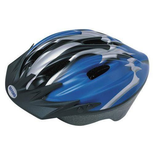 Adult Cycle Helmet Blue/Silver (54-58cm Medium)