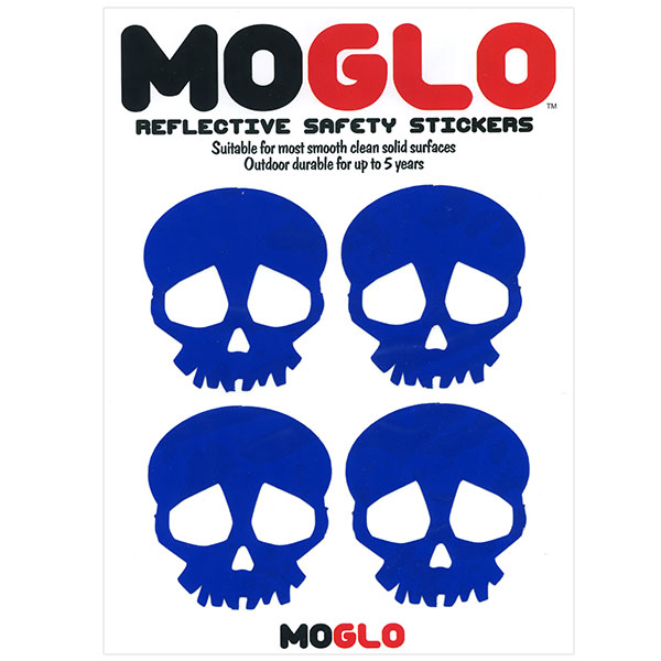 Bicycle Motorcycle Skull Stickers - Blue