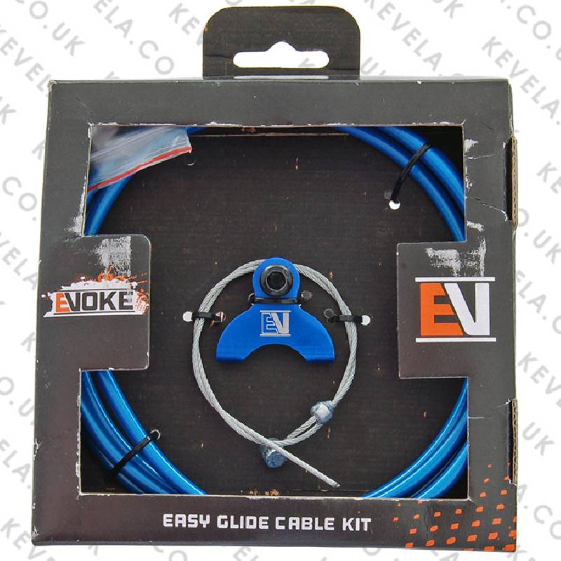 Evoke BMX Brake Cable Kit - Blue