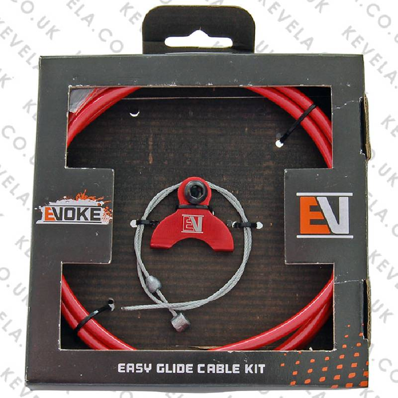 Evoke BMX Brake Cable Kit - Red