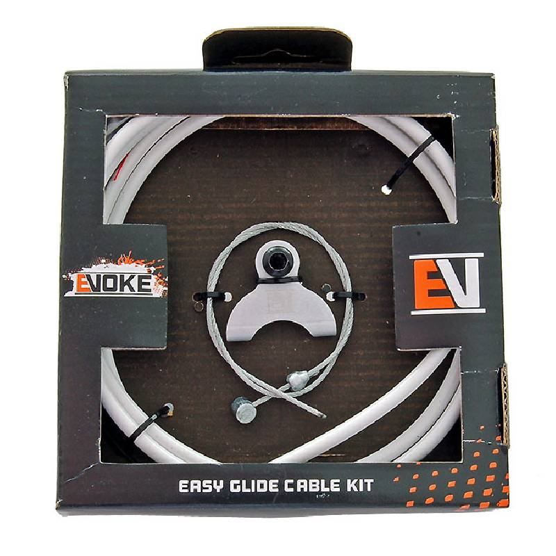 Evoke BMX Brake Cable Kit - White