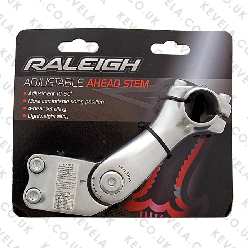 Adjustable Ahead Stem 28.6 x 100mm - Silver
