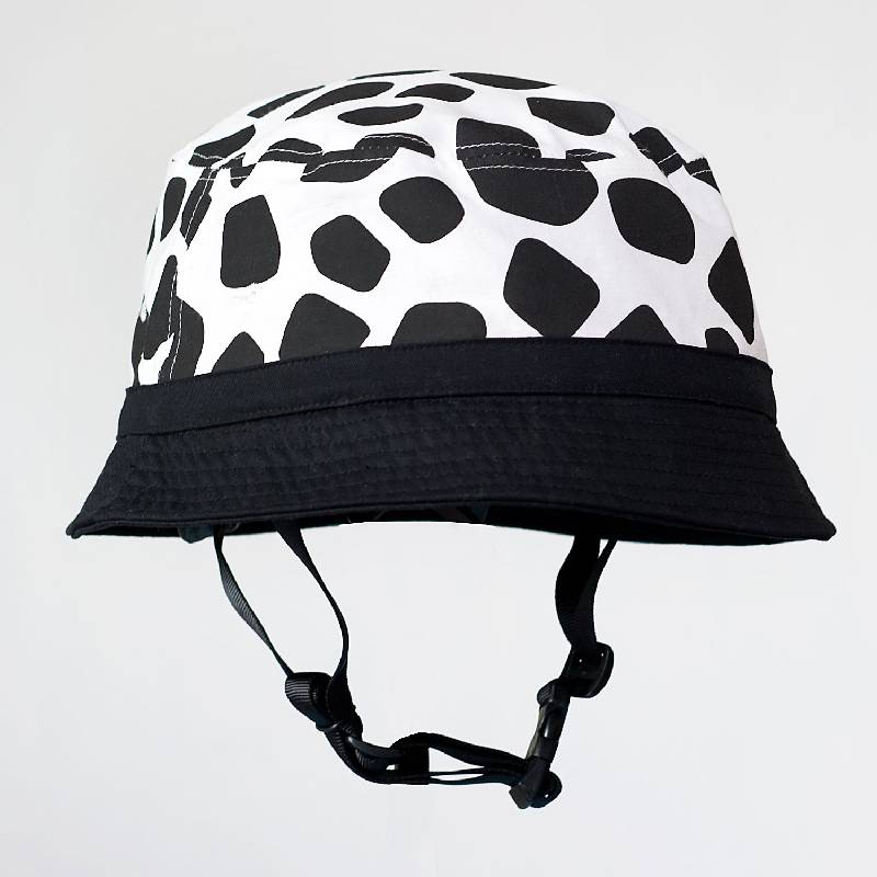 Cycle Helmet Black & White Giraffe Pattern Small