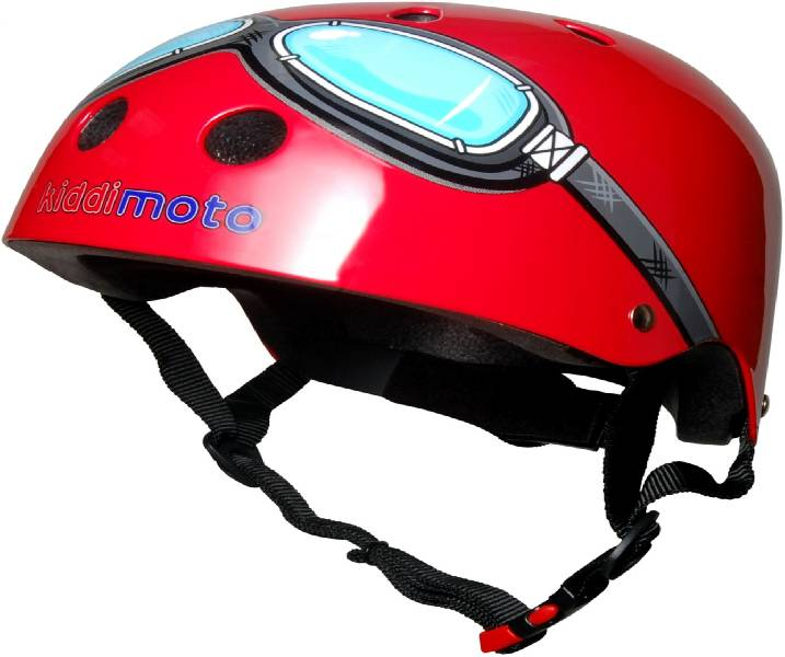 KiddiMoto Child Cycle Helmet Red Goggle 53-58cm
