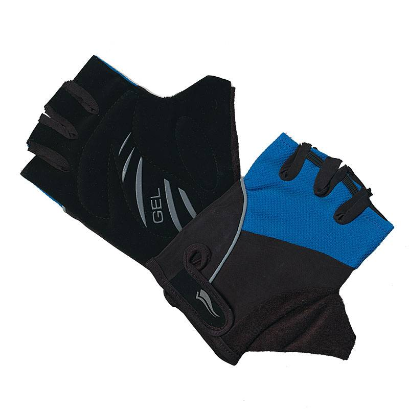 Cycling Mitts Black-Blue Large