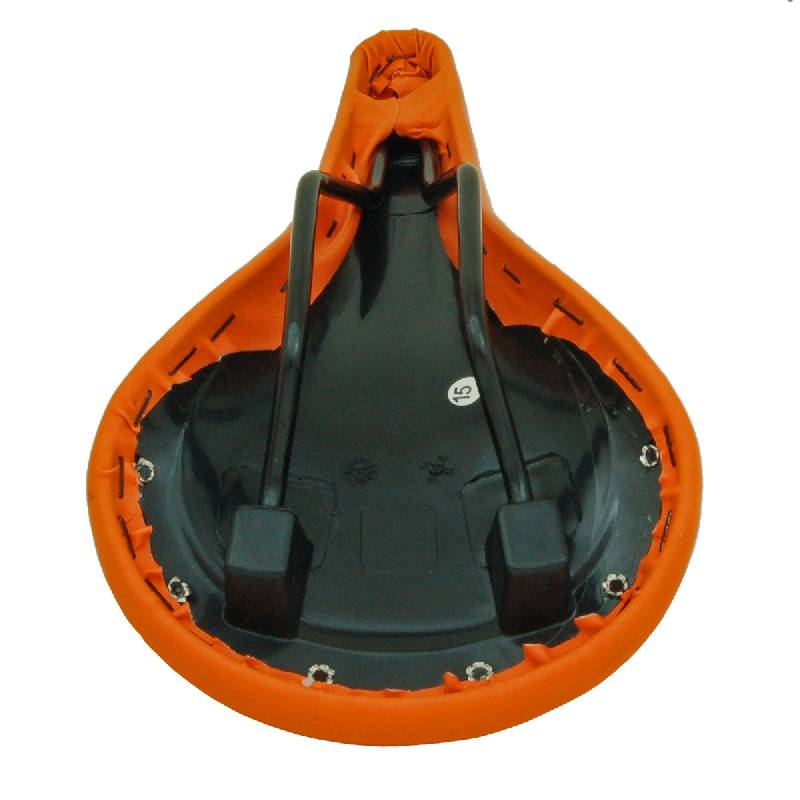 Retro Rivet Race Saddle - Orange