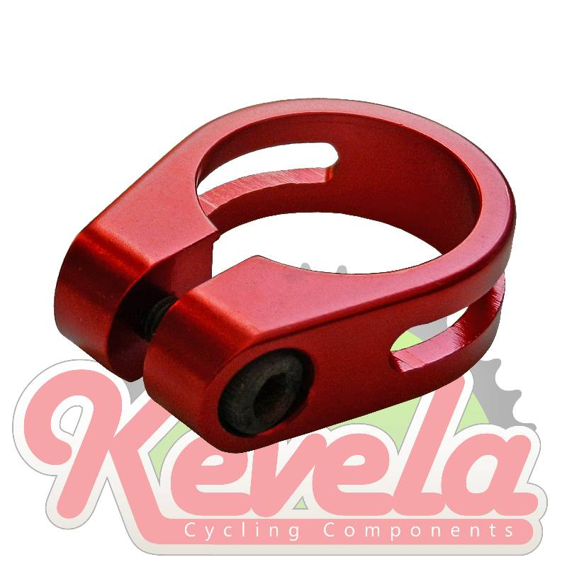 Evoke Seatpost Clamp - BMX 28.6mm Red