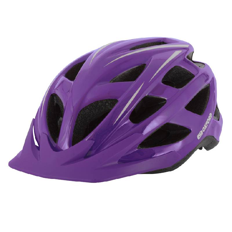Ladies Cycling Helmet - Purple Med (54-58cm)