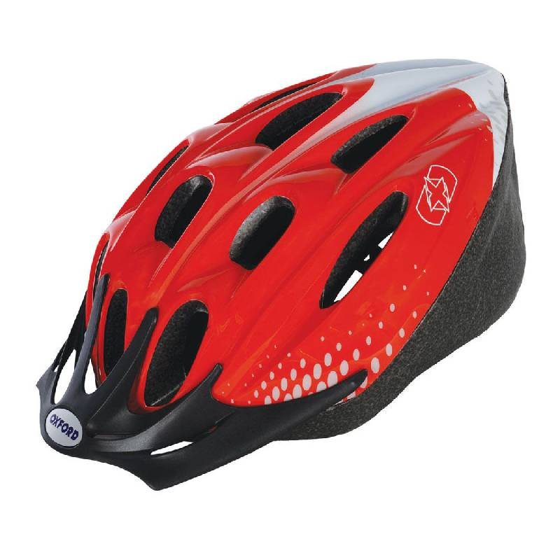 Adult Cycling Helmet RedWhite (58-61cm Large)