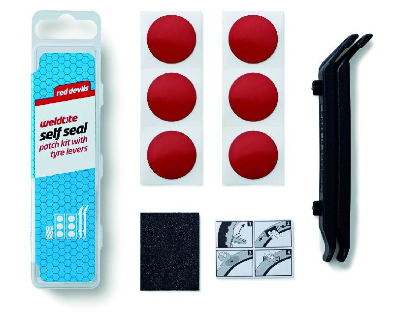 Red Devils Repair Patch Kit With Tyre Levers